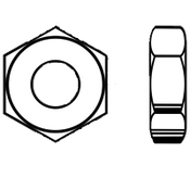 "1 1/2""-6 Heavy Hex Jam (Thin) Nut A563 Grade A Zinc (10/Pkg.)"