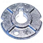 "3/8"" Round Malleable Iron Washers, Zinc Cr+3 (40 Lbs./Bulk Pkg.)"