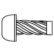 "#2x3/16"" Round U-Drive Anchor Zinc (R16004) (65,000/Bulk Pkg.)"