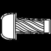 "#4x1/4"" Round U-Drive Anchor Zinc (R16005) (40,000/Bulk Pkg.)"