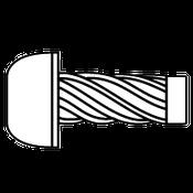 "#4x1"" Round U-Drive Anchor Zinc (100/Pkg.)"