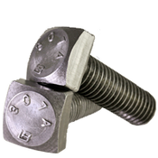 "1""-8x2"" (FT) A307 Grade A Square Head Bolt Zinc Cr+3 (90/Bulk Pkg.)"