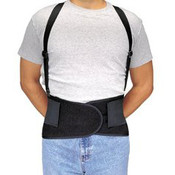 Economy Elastic Back Support Belt w/ Suspenders, Large