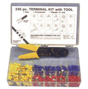 240 pc Nylon Terminal Kit  W/Crimper Tool