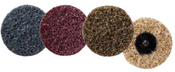 "Quick Change Surface Conditioning Discs - 3"" Threaded Male Hub - Coarse Grade, Mercer Abrasives 3913BRWNC (25/Pkg.)"