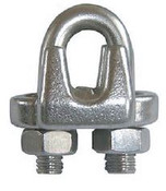 "7/8"" Forged Wire Rope Clip, Galvanized (15/Pkg)"
