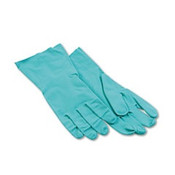 Flock-Lined Nitrile Gloves, Medium, Green, (12 Pair)