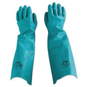 Sol-Vex Sandpatch-Grip Nitrile Gloves, Unlined, Green, Size 8 (1 Pair)