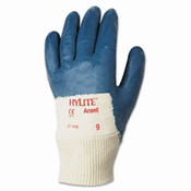 Hylite Palm Coated Multi-Purpose Gloves, Blue/White, Size 9 (12 Pair)
