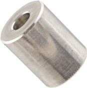 """1/2"""" OD x 1/2"""" L x #10 Hole Aluminum Round Spacer (500/Pkg.)"""