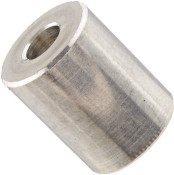 "1/2"" OD x 3/16"" L x #25 Hole Aluminum Round Spacer (1,000/Bulk Pkg.)"