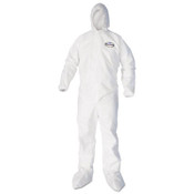 KLEENGUARD A40 Coverall w/ Hood and Boot Covers, X-Large, White (25/Case)