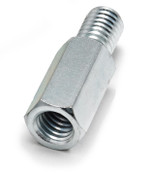 "3/16"" OD x 3/16"" L x 4-40 Thread Stainless Steel Male/Female Hex Standoff (500/Bulk Pkg.)"