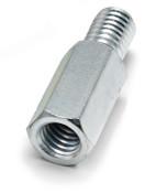 "5/16"" OD x 1/4"" L x 6-32 Thread Stainless Steel Male/Female Hex Standoff,  (50/Pkg.)"