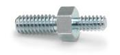 "1/4""OD x (1/4"" & 3/8"" L) x (6-32 & 8-32 Threads) Steel Male/Male Hex Standoff, Zinc Clear Plated (500/Bulk Pkg)"
