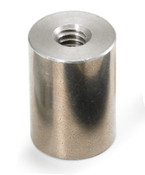 "1/4"" OD x 1-1/4"" L x 6-32 Thread Stainless Steel Female/Female Round Standoff (250 /Pkg.)"