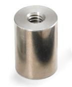 "1/4"" OD x 1/8"" L x 4-40 Thread Stainless Steel Female/Female Round Standoff (250 /Pkg.)"