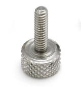 """#10-32x3/8"""" Knurled Thumb Screws, Aluminum (100/Bulk Pkg.)"""