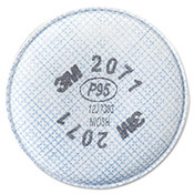 3M 2071 P95 Particulate Filter, Oil/Non-Oil Based Particles (1 Pair)