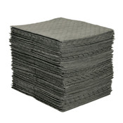 "MRO Plus Heavy Sorbent Pads, .26 gal, 15"" x 19"", Gray (Qty. 100)"