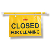 "Site ""Closed for Cleaning"" Safety Hanging Sign, 50"" x 1"" x 13"" (Qty. 1)"