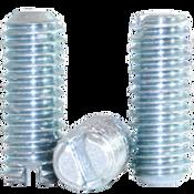 "#10-24x1/2"" Slotted Set Screws Coarse Alloy Case Harden Zinc (100/Pkg.)"