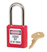 Red OSHA Compliant Keyed Padlock