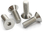"#0-80x1/8"" Flat Head Cap Screw Stainless Steel 304 (ASME B18.3) (1000/Pkg.)"