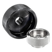Kipp M6 Knurled Nut, Stainless Steel, DIN 6303 (10/Pkg.), K0137.1062