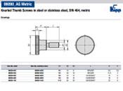 Kipp M4x16 Knurled Thumb Screw, Stainless Steel, DIN 464 (10/Pkg.), K0140.042X16