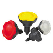 """Kipp 3/8""""-24 Novo Grip Indexing Plunger, 50 mm (D), Lock and Clamp, Size 1, Yellow (1/Pkg.), K0245.1105AL7"""