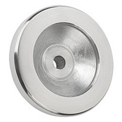 "Kipp 100 mm x .500"" ID Disc Handwheel without Handle, Aluminum Planed (1/Pkg.), K0161.0100XCP"
