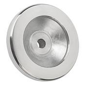 Kipp 100 mm x 12 mm ID Disc Handwheel without Handle, Aluminum Planed (1/Pkg.), K0161.0100X12