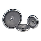 "Kipp 120 mm x .375"" ID Disc Handwheel without Handle, Aluminum DIN 950 (1/Pkg.), K0163.0120XCO"