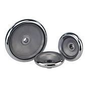 "Kipp 120 mm x .500"" ID Disc Handwheel without Handle, Aluminum DIN 950 (1/Pkg.), K0163.0120XCP"