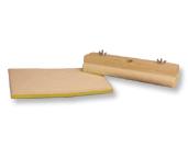 "Synthetic Water-Base Applicator Pad w/ Wood Block 18"", Mercer Abrasives 496B18 (12/Pkg.)"