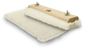 "100% Lambs Wool Applicator Pads w/ Wood Block 10"", Mercer Abrasives 497B10 (12/Pkg.)"