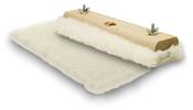 "100% Lambs Wool Applicator Pads w/ Wood Block 16"", Mercer Abrasives 497B16 (12/Pkg.)"