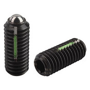 "Kipp 1/2""-13 Spring Plungers, LONG-LOK, Ball Style, Hexagon Socket, Steel, Heavy End Pressure (5/Pkg.), K0325.2A5"