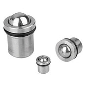 Kipp 10 mm Spring Plungers, Push Fit with O-Ring Seal, Stainless Steel (1/Pkg.), K0582.10