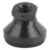 Kipp M16x50 mm Leveling Pads, Steel Pressure Foot & Ball Element with Anti-Slip Plate (1/Pkg.), K0395.416