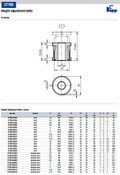 Kipp M20x1.0 Dia Height Adjustment Bolt for M10 Screw, Steel (1/Pkg.), K0692.02010