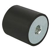 Kipp M12 x 75 mm (D) x 40 mm (OAL) Rubber-Metal Buffers, Galvanized Steel, Style C (1/Pkg.), K0569.07504055