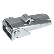 Kipp Adjustable Latch, Screw-on Holes Covered, Stainless Steel, Style B - With Safety Catch (1/Pkg.), K0047.2420602