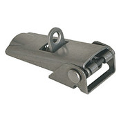 Kipp Adjustable Latch, Screw-on Holes Covered, Stainless Steel, Style C - For Padlock (1/Pkg.), K0047.3420602