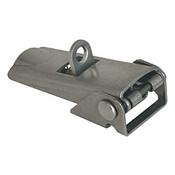 Kipp Adjustable Latch, Screw-on Holes Covered, Stainless Steel, Style C - For Padlock (1/Pkg.), K0047.3420602