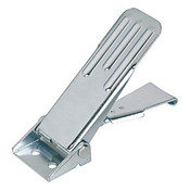 Kipp Adjustable Latch, Screw-on Holes Visible, Grooved Top, Stainless Steel, Style A - Standard (1/Pkg.), K0048.1631392
