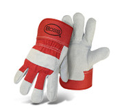 BOSS Red Heavy Duty Leather Palm Gloves