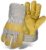 BOSS Grain Pigskin Leather Palm Safety Gloves, Fully Lined