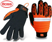 BOSS Miner Gloves, Synthetic Leather Palm Safety